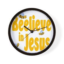 Beelieve in Jesus Wall Clock