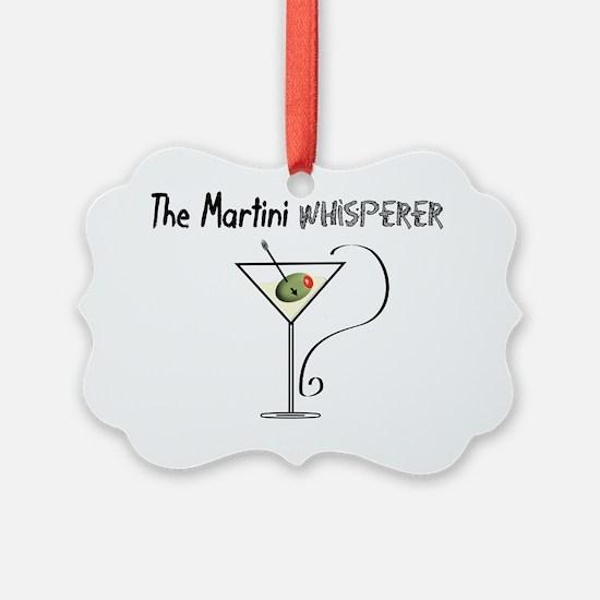 The Martini Whisperer Ornament