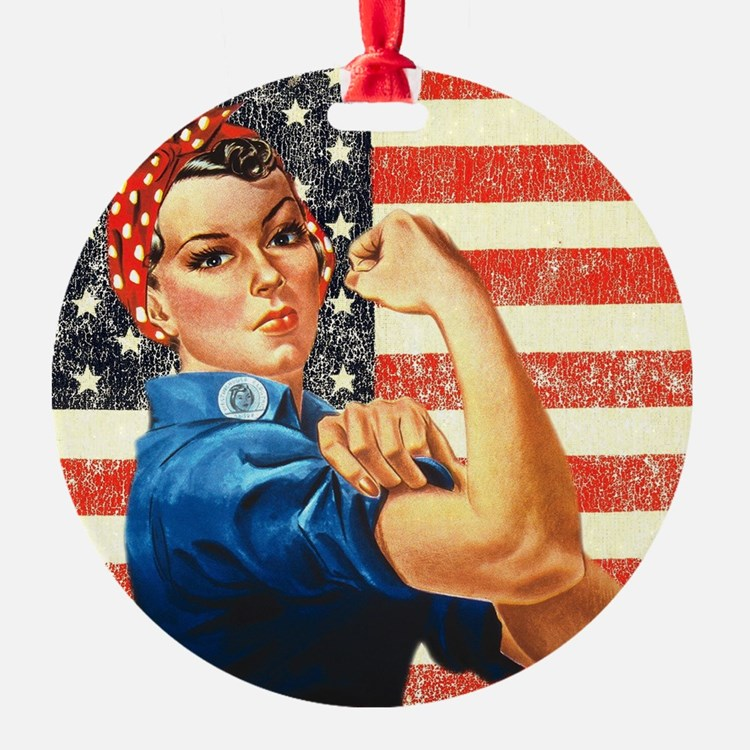 rosie the riveter ornaments 1000s of rosie the riveter ornament designs. Black Bedroom Furniture Sets. Home Design Ideas