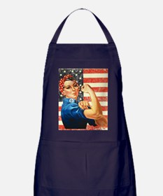 Rosie the Riveter Apron (dark)