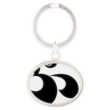 om Oval Keychain