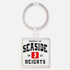 Seaside 1913 b Square Keychain