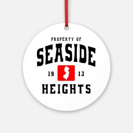 Seaside 1913 b Round Ornament