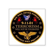 "Justice Will Prevail Square Sticker 3"" x 3"""