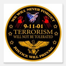 "Justice Will Prevail Square Car Magnet 3"" x 3"""