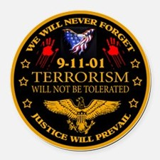 Justice Will Prevail Round Car Magnet