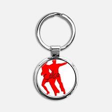 Salsa RED Round Keychain