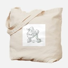 Cute Poodle art Tote Bag