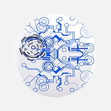 "lightblue circuitboard flowchart 3.5"" Button"