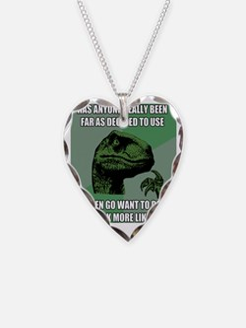philosoraptornonsense Necklace Heart Charm