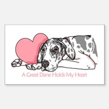 Harle UC Holds Heart Rectangle Decal