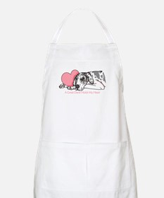 Harle UC Holds Heart BBQ Apron
