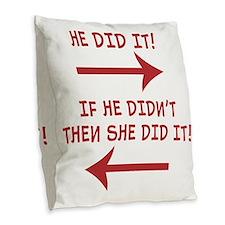 hedidit.gif Burlap Throw Pillow