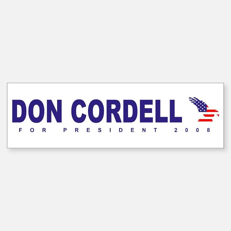Don Cordell for president Bumper Bumper Bumper Sticker