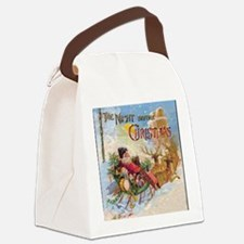 Vintage Christmas The Night Befor Canvas Lunch Bag