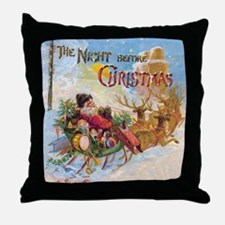Vintage Christmas The Night Before Ch Throw Pillow