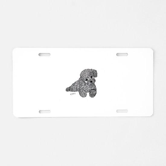 Poodle puppy Aluminum License Plate