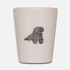 Poodle puppy Shot Glass