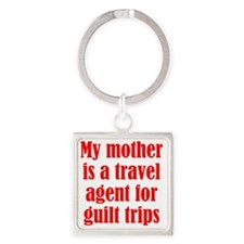 guilt_trips2 Square Keychain