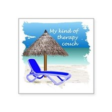 """Therapy Couch Square Sticker 3"""" x 3"""""""