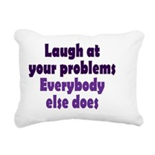 laugh_rnd2 Rectangular Canvas Pillow