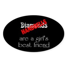 Girl's Best Friend Black Oval Decal
