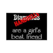Girl's Best Friend Black Rectangle Magnet (100 pac