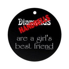 Girl's Best Friend Black Ornament (Round)