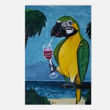 Drunk Parrot Postcards (Package of 8)