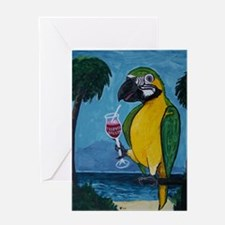 Drunk Parrot Greeting Card