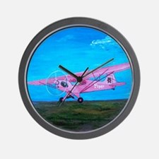 Pink Piper Cub Wall Clock