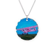 Pink Piper Cub Necklace