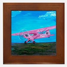 Pink Piper Cub Framed Tile