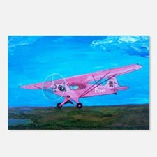 Pink Piper Cub Postcards (Package of 8)
