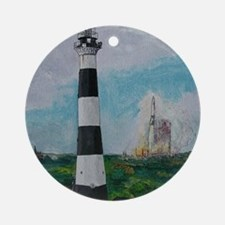 Two Beacons - Cape Canaveral Light Round Ornament