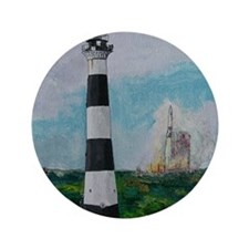 """Two Beacons - Cape Canaveral Light 3.5"""" Button"""