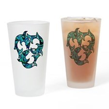 SwirlMouse Drinking Glass