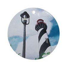 St. Augustine Lighthouse Round Ornament