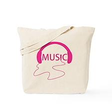 Music Headphones Tote Bag