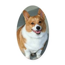 welsh corgi Oval Car Magnet