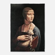 Lady with an Ermine 5'x7'Area Rug