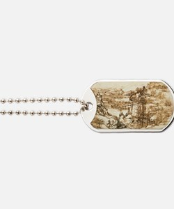 Landscape Drawing Dog Tags