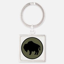92nd Infantry Division Square Keychain