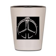 fist-peace-OV Shot Glass