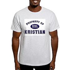 Property of kristian Ash Grey T-Shirt
