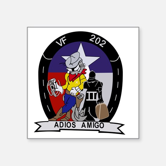 "vf-202_adios_amigo Square Sticker 3"" x 3"""