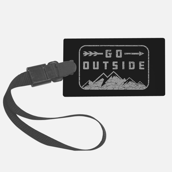 Go Outside Large Luggage Tag