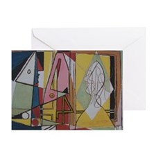 Picasso Flamingos Greeting Card