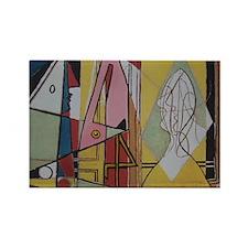 Picasso Flamingos Rectangle Magnet
