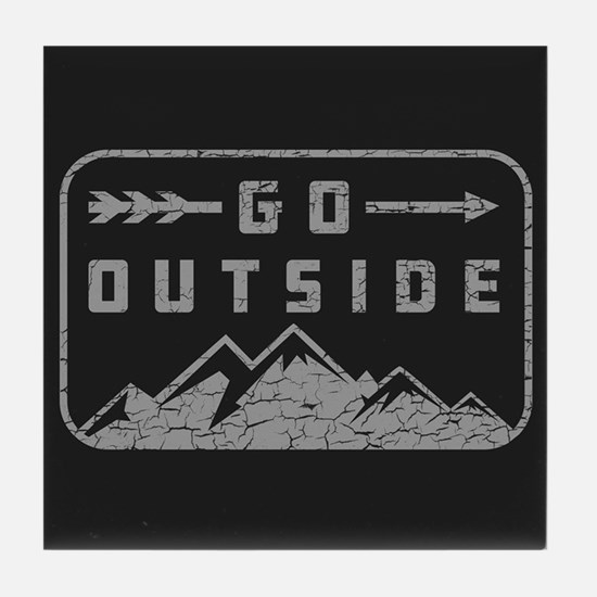 Go Outside Tile Coaster